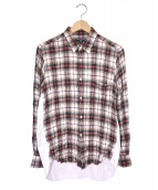 COMME des GARCONS HOMME(コムデギャルソンオム)の古着「ワッシャーシャツ」|レッド