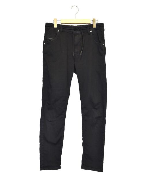 DIESEL(ディーゼル)DIESEL (ディーゼル) ジョグデニムパンツ ブラック サイズ:27 KRAILEY R-NEの古着・服飾アイテム