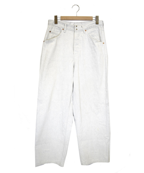 O-(オー)O- (オー) ワイドデニムパンツ ベージュ サイズ:32 O-02-Bの古着・服飾アイテム