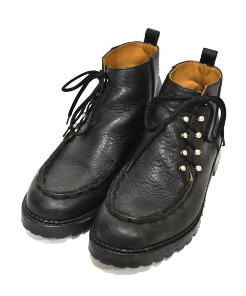 HENDER SCHEME(エンダースキーマ)Hender Scheme (エンダースキマー) レザーブーツ ブラック サイズ:6 CANNABIS FULL Lace trek hiの古着・服飾アイテム
