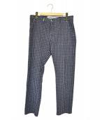 BORRELLI(ボレッリ)の古着「チェックパンツ」 ブルー