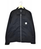 stussy(ステューシー)の古着「ジップアップシャツジャケット」|ブラック