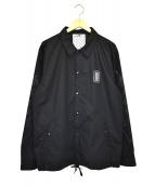 CLUCT× mita sneakers(クラクト×ミタスニーカーズ)の古着「東京改コーチジャケット」|ブラック