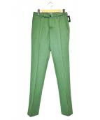 INCOTEX(インコテックス)の古着「センタープレスパンツ」|グリーン