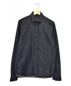 GIVENCHY(ジバンシィ)の古着「比翼デニムシャツ」|インディゴ
