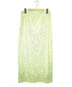 IENA(イエナ)の古着「フラワーレースタイトスカート」 グリーン