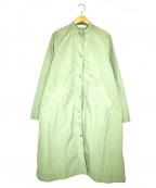 CHILD WOMAN(チャイルドウーマン)の古着「スタンドカラーコート」 グリーン