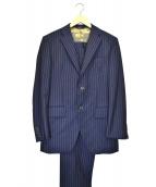 azabu tailor(アザブテーラー)の古着「2Bセットアップスーツ」|ネイビー