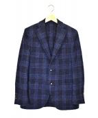 LARDINI(ラルディーニ)の古着「ウールナイロンライトツイードジャケット」|ネイビー×ブルー