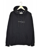 YohjiYamamoto pour homme × New Era(ヨウジヤマモトプールオム × ニューエラ)の古着「コラボロゴ刺繍フーディー」 ブラック