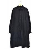 YOHJI YAMAMOTO(ヨウジ ヤマモト)の古着「パリコレスタッフシャツ」|ブラック