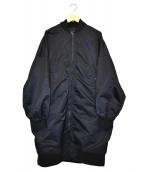 s'yte(サイト)の古着「ナイロンツイルビッグロングMA1」 ブラック
