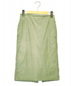 MADISON BLUE(マディソンブルー)の古着「ソフィバックサテンタイトスカート」 カーキ