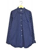 CDG(コムデギャルソン)の古着「ポルカドットモノグラムBDシャツ」 ネイビー