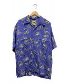 ()の古着「ヴィンテージアロハシャツ」|ブルー