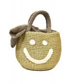 a-jolie(アジョリー)の古着「スマイルボアカゴバッグ」|グレー×ベージュ