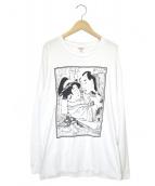 Supreme × Sasquatchfabrix(シュプリーム × サスクワッチファブリクス)の古着「春画ロングスリーブTシャツ」|ホワイト