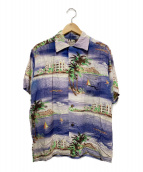 WATUMULLS and Leilani(ワットムルスアンドレイラニ)の古着「50sヴィンテージハワイアンシャツ」|ブルー