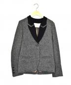 TELA(テラ)の古着「リネンウールテーラードジャケット」|グレー