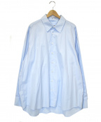 Hed Mayner(ヘド メイナー)の古着「オープンパックオーバーサイズシャツ」|スカイブルー
