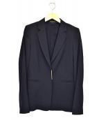 ESCADA(エスカーダ)の古着「スナップボタンテーラードジャケット」 ネイビー