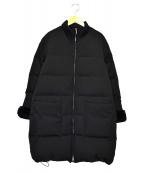 Demi-Luxe BEAMS(デミルクスビームス)の古着「レッキスファーダウンコート」|ブラック