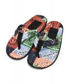 ISLAND SLIPPER × BEAMS(アイランドスリッパ×ビームス)の古着「別注ペイズリービーチサンダル」 マルチカラー