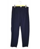 YOHJI YAMAMOTO(ヨウジヤマモト)の古着「ウールギャバデザインパンツ」 ネイビー