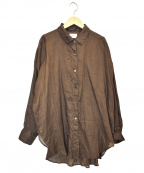 Lisiere(リジェール)の古着「ラミーシャツ」|ブラウン