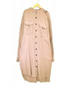 ISABEL MARANT ETOILE(イザベルマラン エトワール)の古着「バンドカラーシャツワンピース」|ピンク