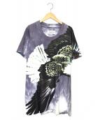 Maison Margiela(メゾンマルジェラ)の古着「イーグルプリントワイドジップTシャツ」|グレー