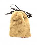 SueUNDERCOVER(スーアンダーカバー)の古着「フェイクファーポーチハンドバッグ」|ブラウン