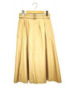 MACKINTOSH LONDON(マッキントッシュ ロンドン)の古着「撥水 ギャバジンAラインスカート」|ベージュ