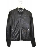REPLAY(リプレイ)の古着「ベジタブルダイラムレザージャケット」 ブラック