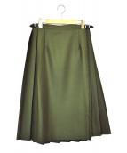 O'NEIL OF DUBLIN(オニール オブ ダブリン)の古着「ラップスカート」|オリーブ