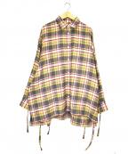 SYU.(シュウ)の古着「スーパーアームネルシャツ」 ベージュ