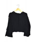 Y's PINK()の古着「カットデザインニット」|ブラック