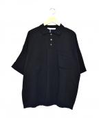yashiki(ヤシキ)の古着「クンプウニットポロシャツ」|ブラック