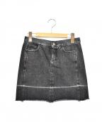 MM6 Maison Margiela()の古着「カットオフデニムスカート」|ブラック