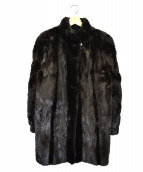 SAGA MINK(サガミンク)の古着「ミンクファーコート」 ブラウン