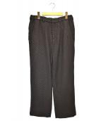 KUON(クオン)の古着「二重十字刺し子パンツ」|ブラウン