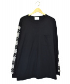 KUON(クオン)の古着「刺子ロングスリーブカットソー」|ブラック