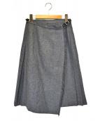 ONEIL OF DUBLIN(オニール オブ ダブリン)の古着「ウールキルトスカート」|ライトグレー