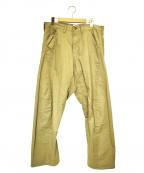 CAL O LINE(キャルオーライン)の古着「セルビッチチノクロスパンツ」 ベージュ