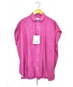 TICCA(ティッカ)の古着「バックッレースアップフレンチシャツ」|ピンク