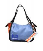 MARC JACOBS(マークジェイコブス)の古着「カラーブロックスポーツトートバッグ」|オレンジ×ブルー