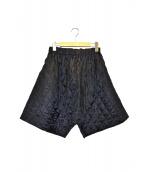 COMME des GARCONS(コムデギャルソン)の古着「サルエルキルティングショーツ」|ブラック