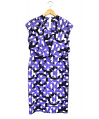 JOCONDE ROYAL(ジョコンダ ロイヤル)の古着「N/S総柄ワンピース」|ブルー