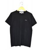 PLAY COMME des GARCONS(プレイコムデギャルソン)の古着「ワンポイントTシャツ」|ブラック