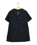 Y's(ワイズ)の古着「コットンオープンカラーシャツ」 ブラック